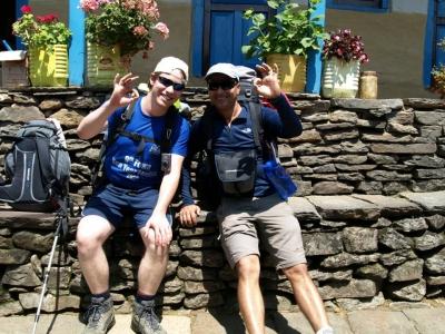 Annapurna Base camp  Bisnhu and Greg