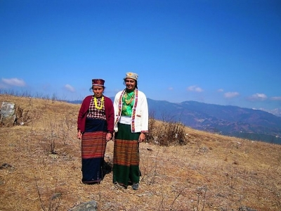 Ladies in Indigenous - the Tamang attire