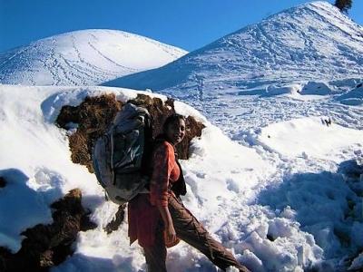 Sailung Peak Covered in Snow