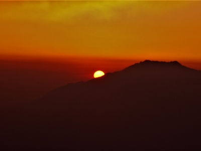 Sunset from Sing Gompa